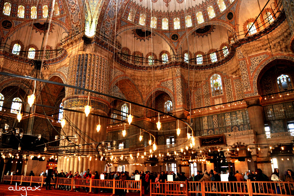 Interior of the Sulthanahmet Mosque