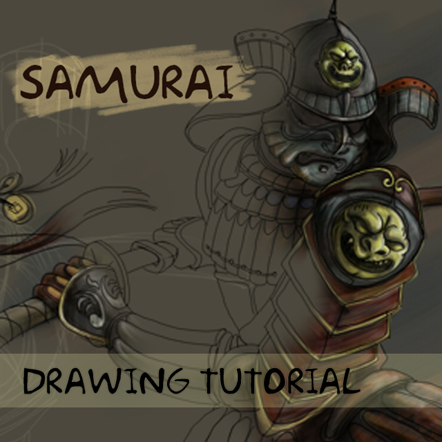 how to draw a samurai warrior step by step