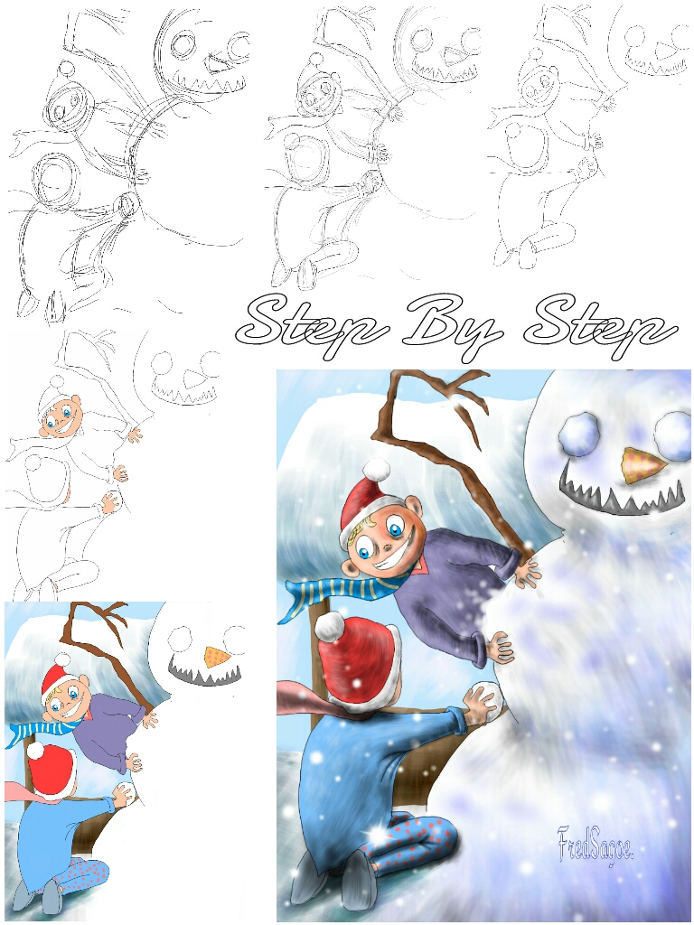 how to draw a snow man