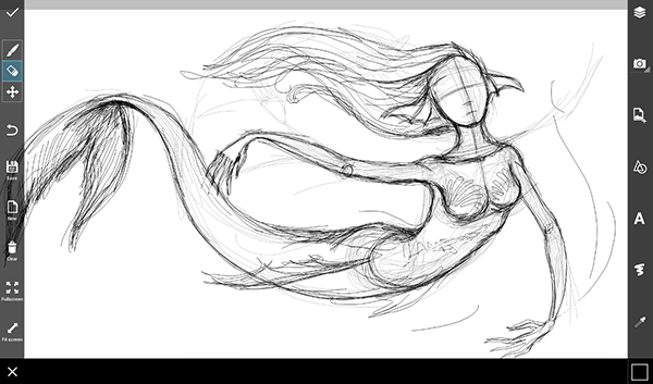 Mermaid Swimming Drawings How to Draw a Mermaid