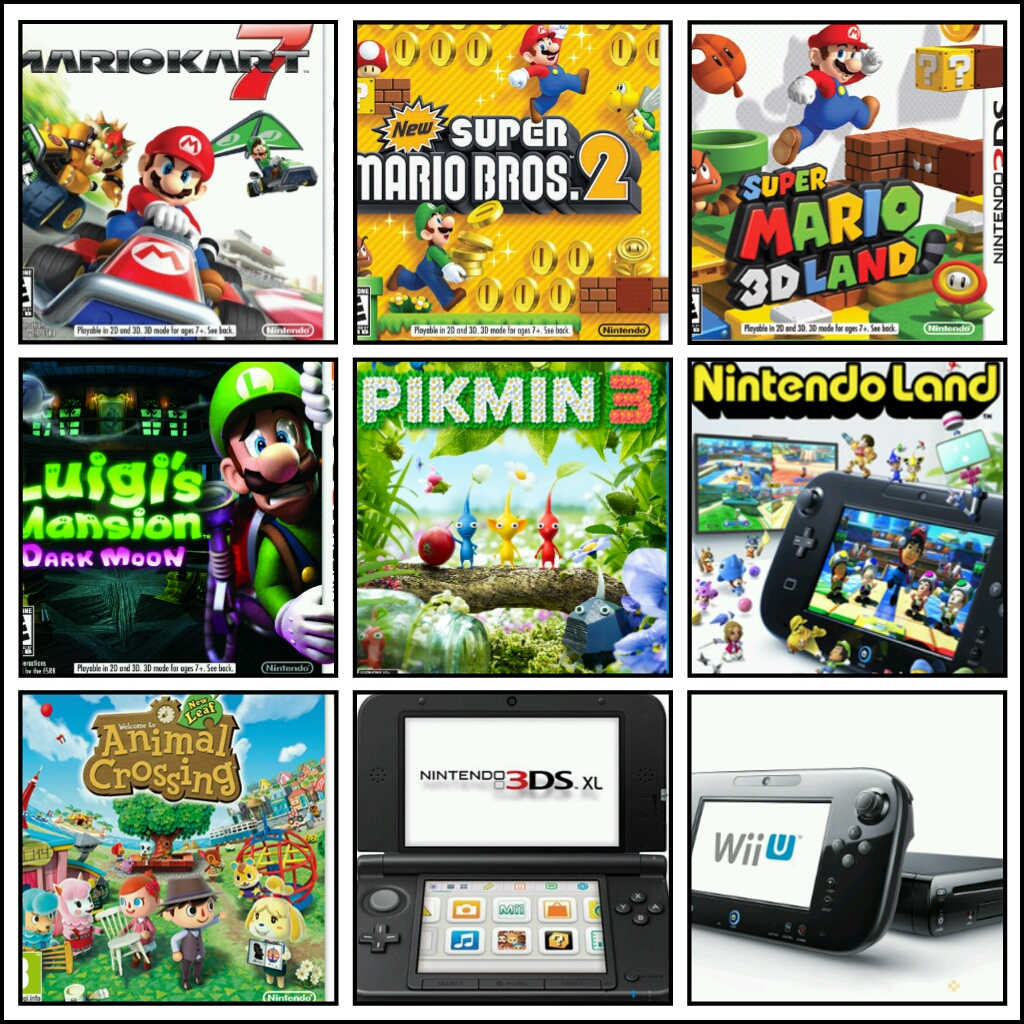 Cool games for the nintendo 3ds and wii u...