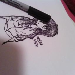 pencil art sharpie manga draws bored doodles