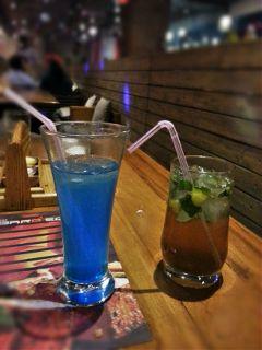 mojito blue lagoon drinks hunger