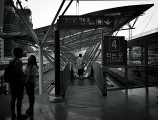 korea black & white architecture people emotions