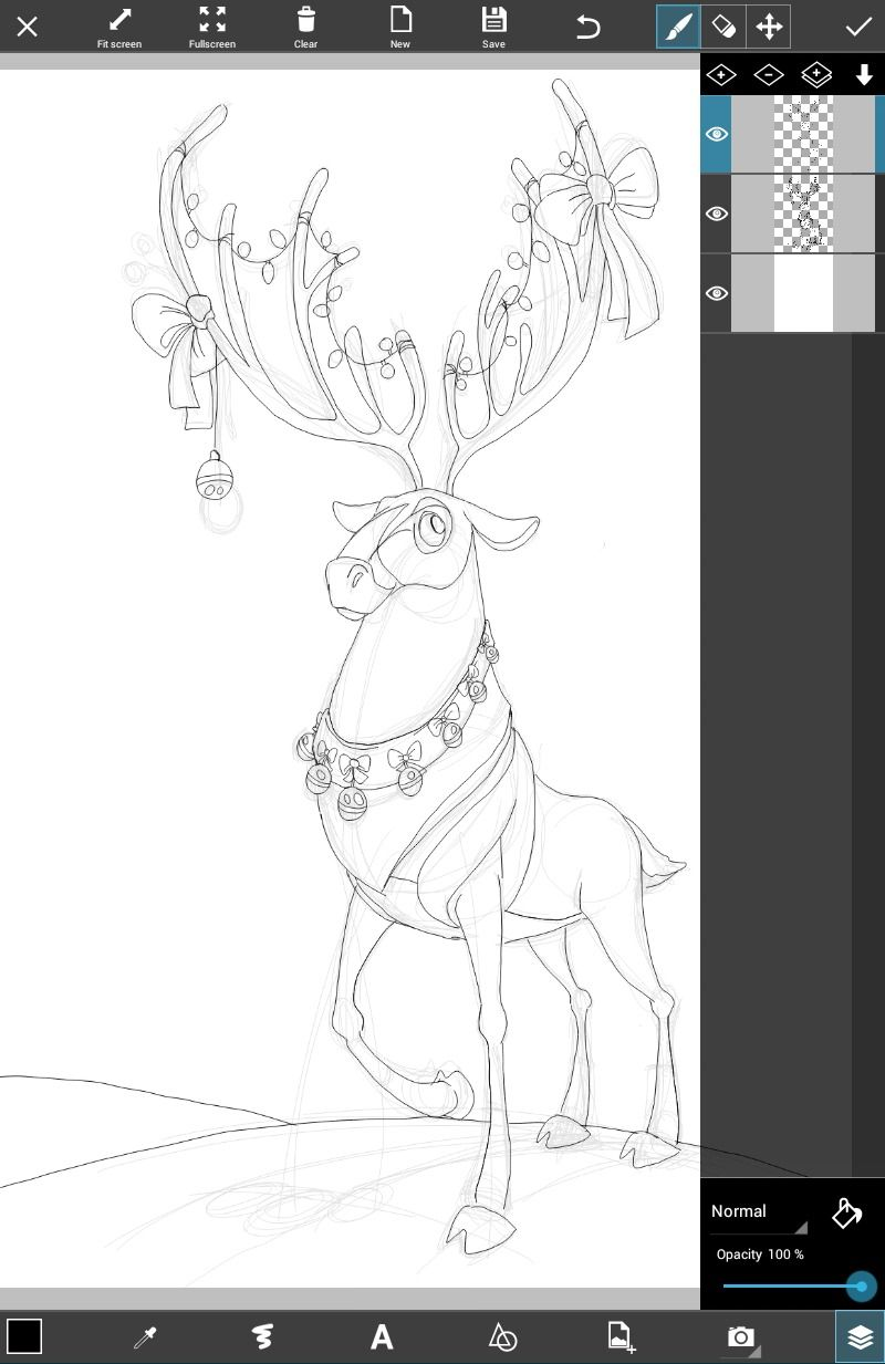 how to draw a reindeer step by step tutorial