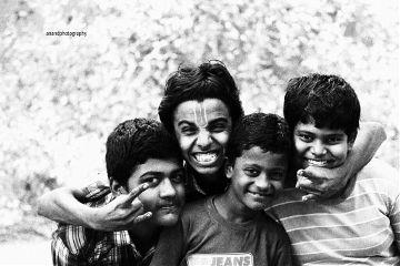 waphappiness black & white bokeh people photography