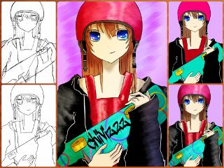 drawstepbystep drawing colorful collage cute
