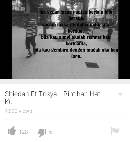 New song by my best friend Shiedan ft Trisya    malaysi