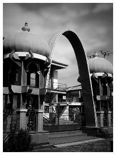 black & white architecture indonesia mosque