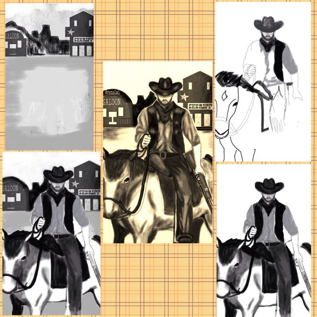how to draw a cowboy step by step
